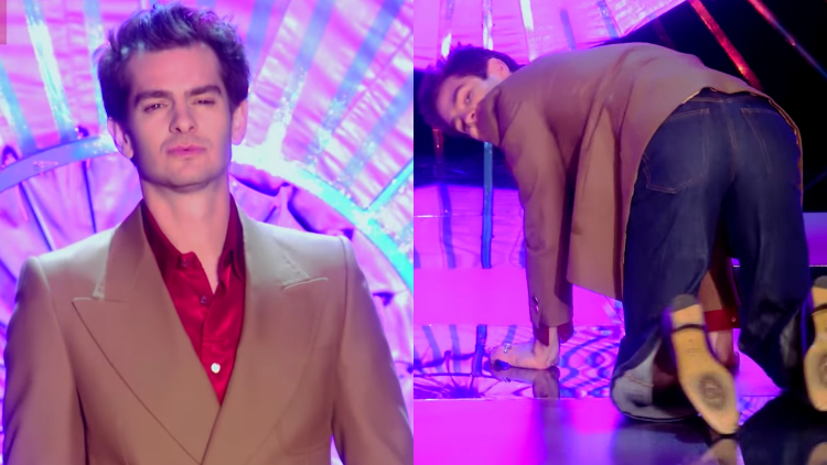 Watch Andrew Garfield Get on All Fours on the 'Drag Race UK' Runway