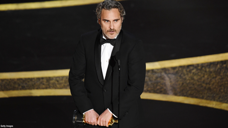 Joaquin Phoenix Shouts Out Queer Rights in Oscar Speech