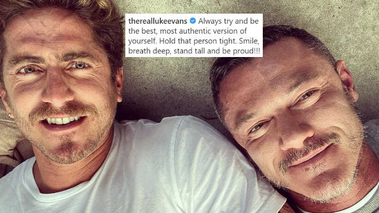 Luke Evans' Insta Post About His BF Is Too Cute For Us to Handle