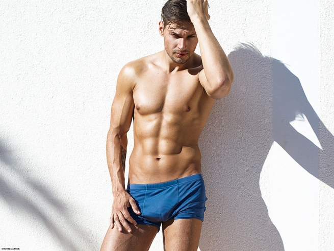 8. If you're a top, get in tight fitting athletic shorts.