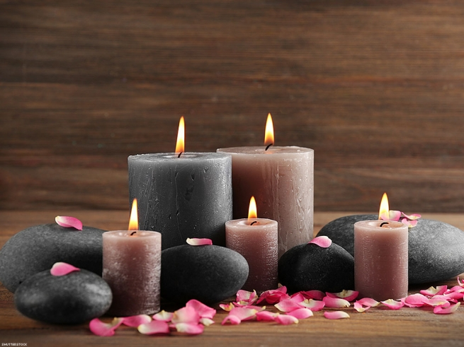 11. Light a scented candle from Target.