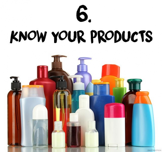 6. Know your products