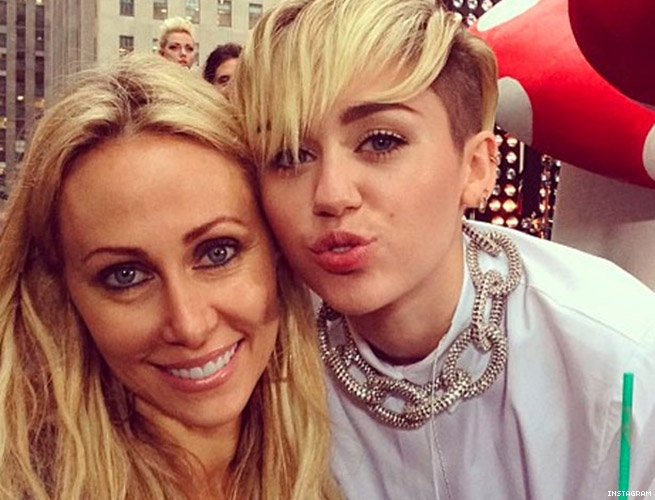 Trish and Miley Cyrus