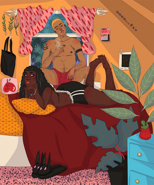 Gabriella Grimes' Colorful Artwork Depicts the Beauty of Queer POC