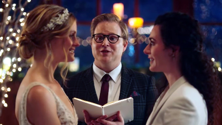 Hallmark Channel Bans Ad Featuring A Lesbian Couple Kissing At The Altar